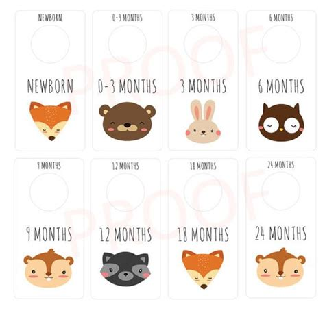 Free Printable Closet Dividers by Animals Printable Baby Nursery Closet Dividers And
