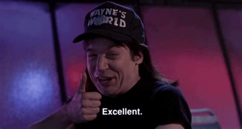 mike myers you re the devil gif waynes world thumbs up gif find share on giphy