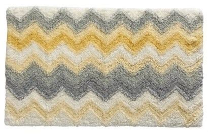 Grey And Yellow Bath Rug Roselawnlutheran Yellow And Grey Bathroom Rugs