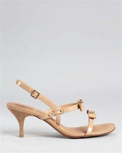 beige sandals low heel burch sandals kailey low heel in beige black lyst
