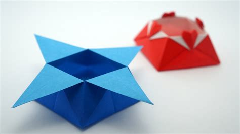 Origami Paper India - origami box traditional model