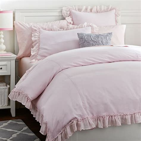 blush colored bedding linen lux duvet cover sham blush pbteen
