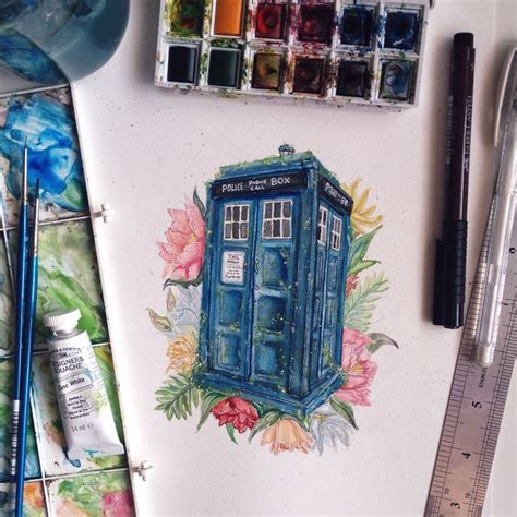 tardis tattoo design beautiful tardis artwork tardis