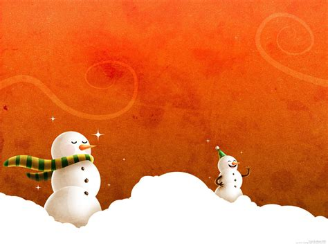 snowman powerpoint template free wallpapers and powerpoint backgrounds