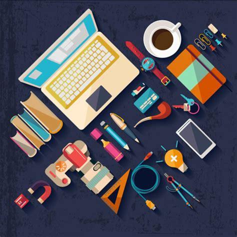 web design tools vector free download flat office tools vector vector web design free download