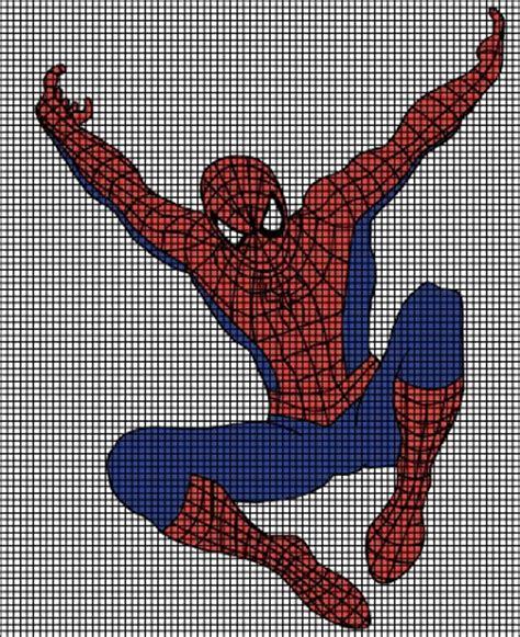 spiderman graph pattern spiderman jumping crochet pattern