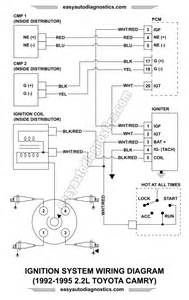part 1 ignition system wiring diagram 1992 1995 2 2l toyota camry