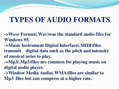 which audio file format is the best quality multimedia data and file format