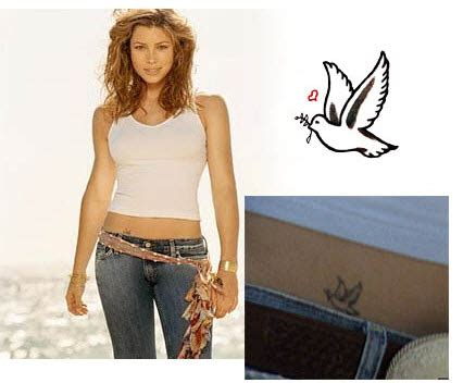 jessica biel tattoo dove of tattooforaweek temporary tattoos largest