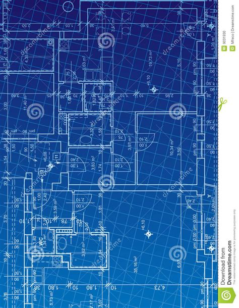 blueprint design blueprint vector stock vector illustration of house