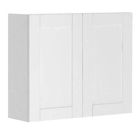 white melamine cabinet doors eurostyle ready to assemble 36x30x12 5 in stockholm wall cabinet in white melamine and door in