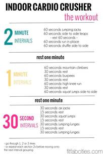 workout plan for at home indoor cardio workout looks like a good indoor cardio for