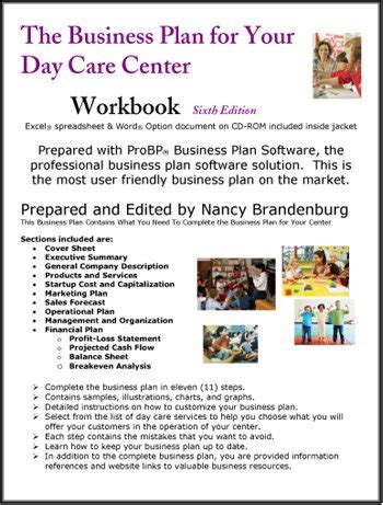 Day Care Center Business Plan Daycare Business Plan Template Pdf