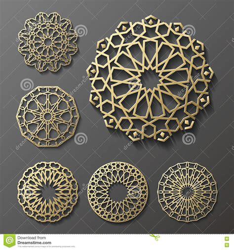 round islamic pattern vector islamic ornament vector persian motiff 3d ramadan