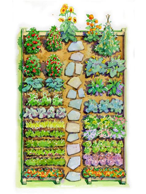 Flower And Vegetable Garden Layout Easy Children S Vegetable Garden Plan