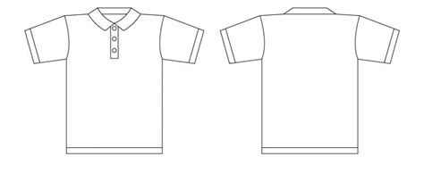 Kemeja Basic Black And White Simple best photos of polo shirt template polo shirt outline