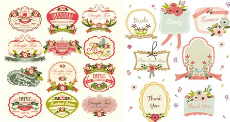 artwork label template vintage labels vector vector design