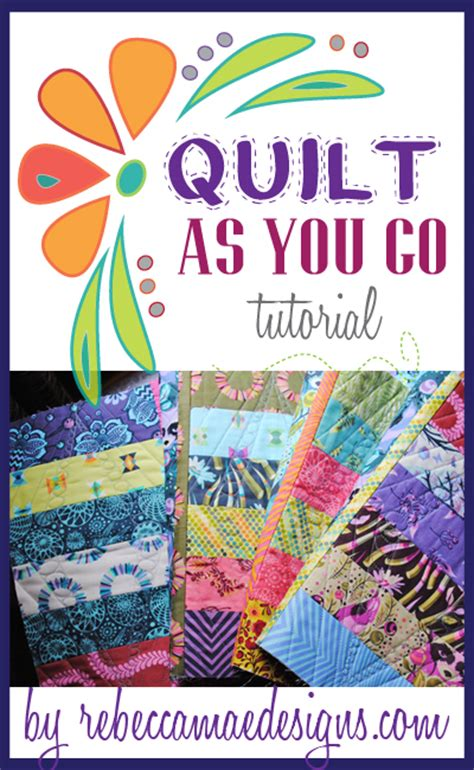 Quilt As You Go Tutorials by Quilt As You Go Block Of Month Finished
