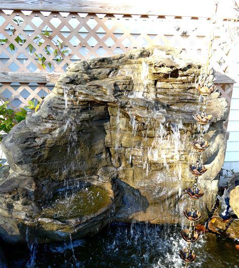 vertical backyard waterfalls garden rock waterfalls