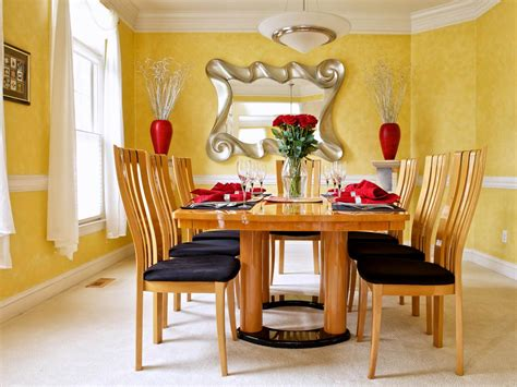 yellow dining room photos hgtv