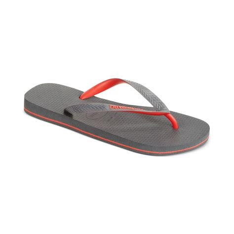 fliptop sandals lyst havaianas top flip sandals in gray for
