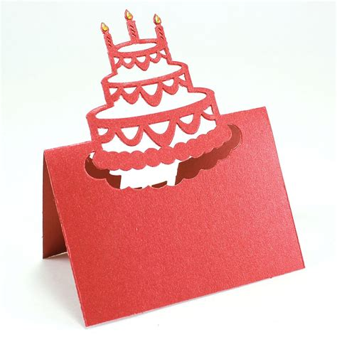how to make cut out cards maple craft colorful cutout birthday cake place cards gift