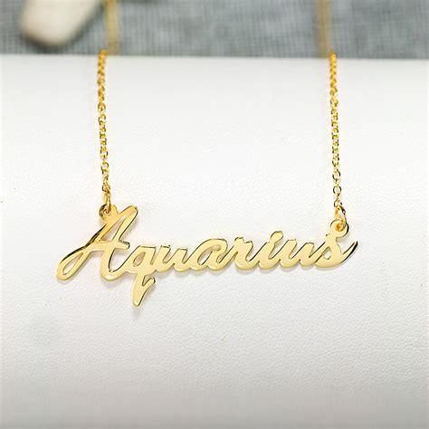 made zodiac name necklace