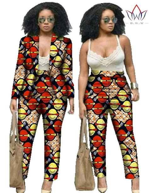 African Print Two Piece Outfits For Women | two piece set pants and crop top african clothing print