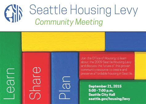 seattle office of housing join the office of housing for a community meeting on the seattle housing levy front