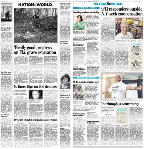local and foreign news section meaning a look at the philadelphia inquirer s new redesign