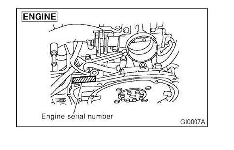 outback number can i match engine to vin subaru outback subaru
