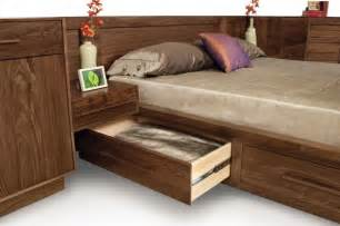 nightstand headboard solid walnut bed headboard with nightstand attached modern