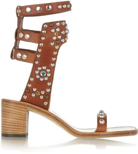 marant carol sandals marant the carol studded leather sandals in brown
