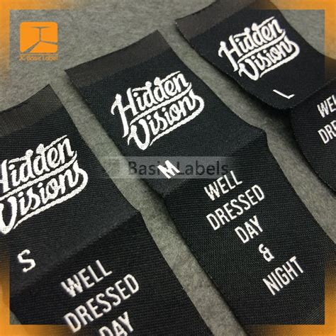 Handmade Clothing Tags - 300 woven labels center fold custom clothing labels woven