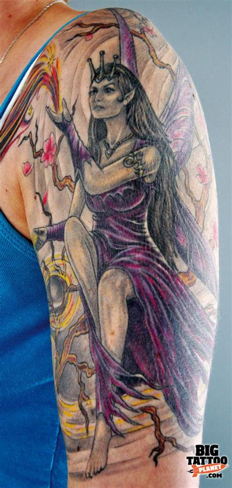 the high priestess anne stokes colour tattoo big