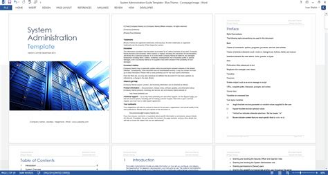 system administration guide ms word and excel template