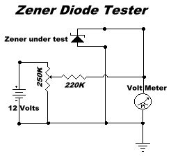 diode circuit test simple projects a zener diode tester gregs basic electronics