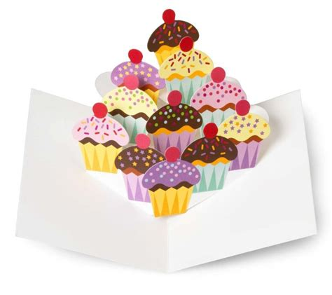 pop up cupcake card template cupcakes pop up note cards 3d cards
