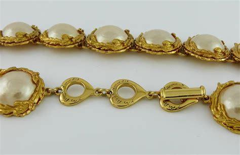 Ay Slvintage Set yves laurent ysl vintage pearl necklace and earrings