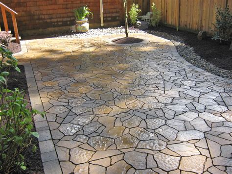 backyard stone patio stone patio ideas landscape archives dennis 7 dees