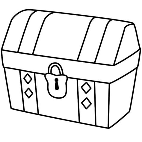 for a treasure chest free coloring pages