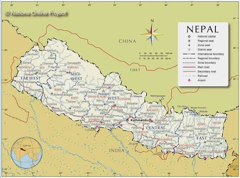 nepal on map political maps of nepal free printable maps