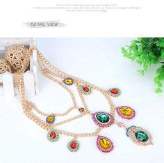 Kalung Fashion Choker Silver Chain Tassel Necklace Nf0009 monogramme gold color five flowers design alloy korean