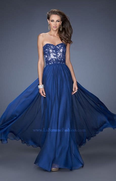 la femme   strapless southern belle prom dress