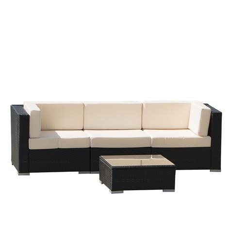 in outdoor wicker patio sofa set rattan sectional