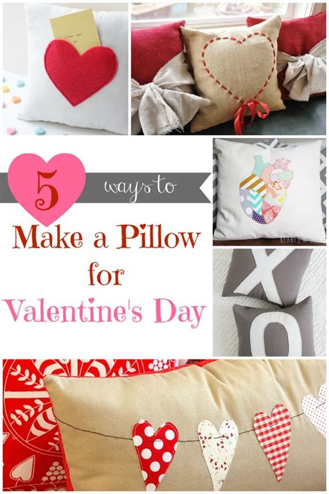 Valentines Day Pillows by 5 Ways To Make A Pillow For S Day Infarrantly