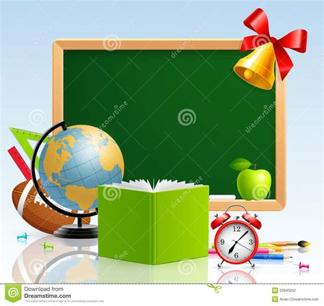 school greeting card  stationery stock vector