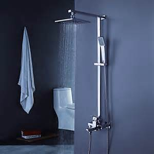 contemporary tub shower faucet with 8 inch shower
