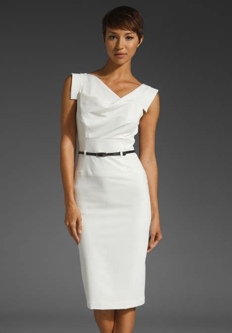 Dress Of The Day White Hoodie Dress by Black Halo Classic Jackie O Dress For Wardrobe
