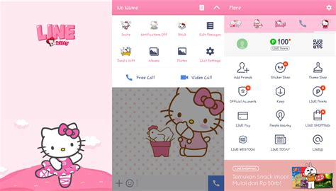 theme line android hello kitty putra pak asep kumpulan tema theme line hello kitty di